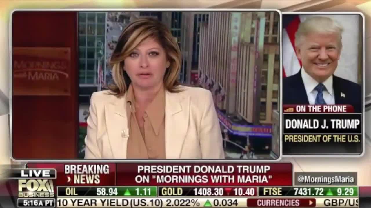 Transcript Quote - Interview: Donald Trump Calls in to Fox