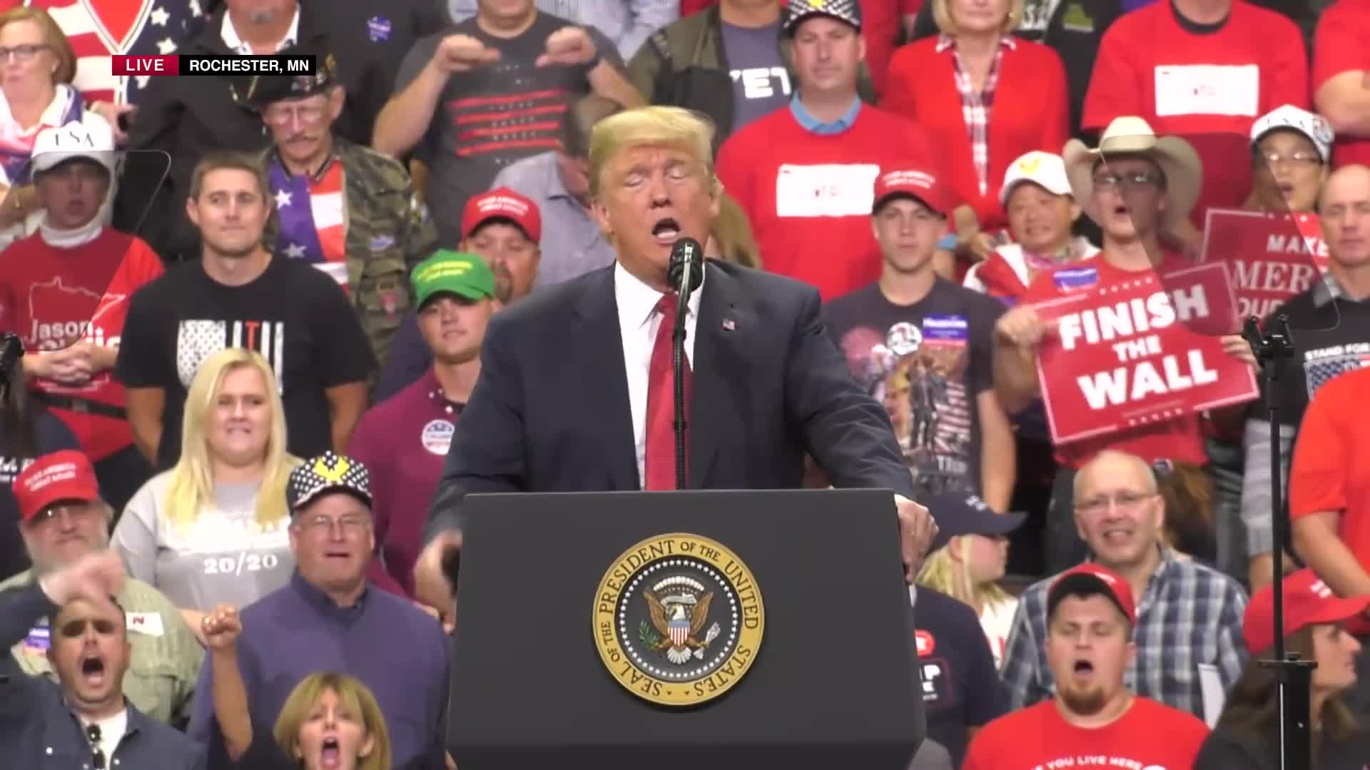 02586ac49 Transcript Quote - Speech: Donald Trump Holds a Political Rally in ...