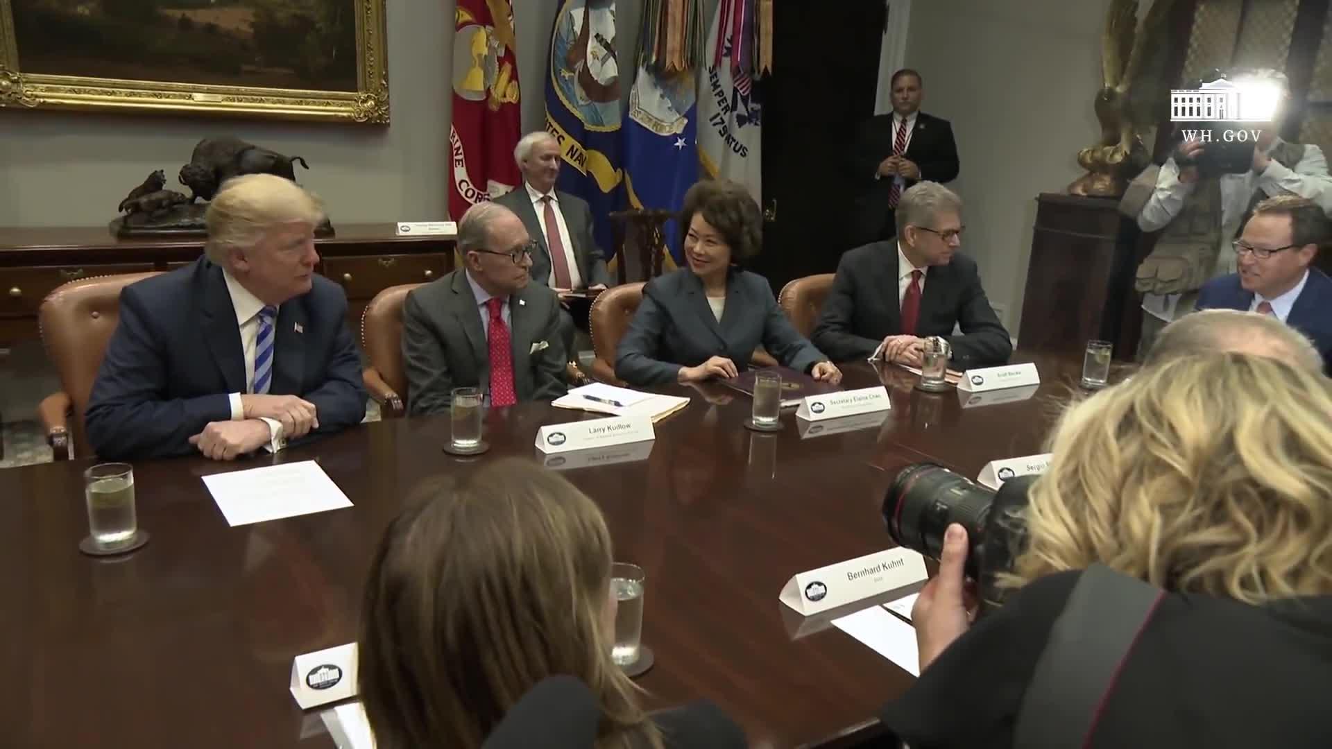 Transcript Quote - Remarks: Donald Trump Attends a